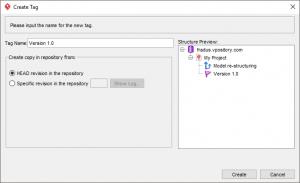 Create Tag window