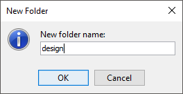 Entering new folder name