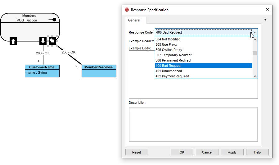 Set REST response code