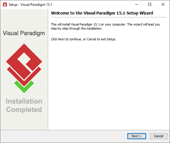 Visual Paradigm installation screen (Windows)