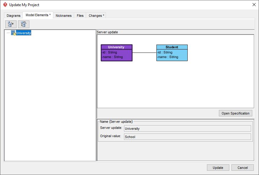 Visual Paradigm Update window
