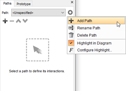 Add a wireflow path