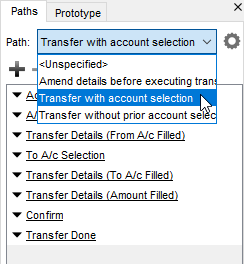 Select path to animate