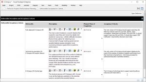 Project Performance Plan: Deliverable Acceptance Criteria