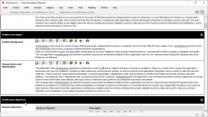 TOGAF Statement of Architecture Work: Problem Description