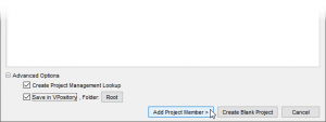Adding project member to a project