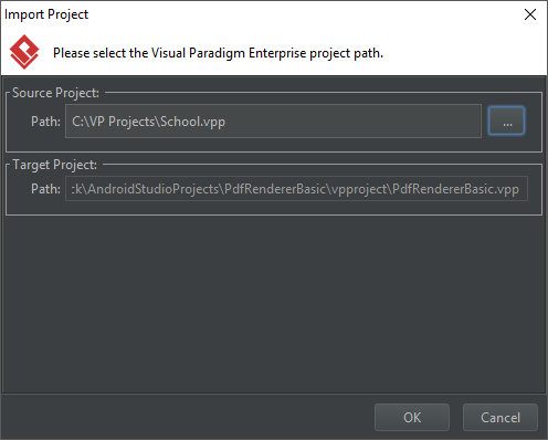 Import Project window