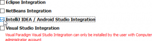 Select 'IntelliJ IDEA / Android Studio Integration""