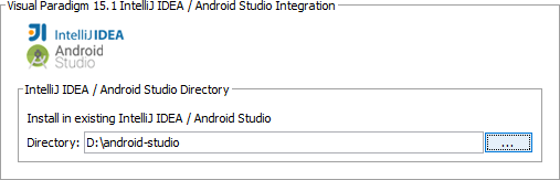 Specifying path of Android Studio