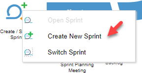 Create new sprint