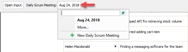 To create a new daily scrum meeting