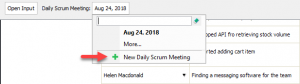 Creating a daily scrum meeting