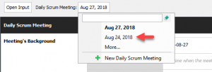 Switch to another daily scrum meeting