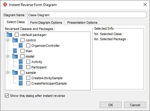 Form diagram after Instant Reverse